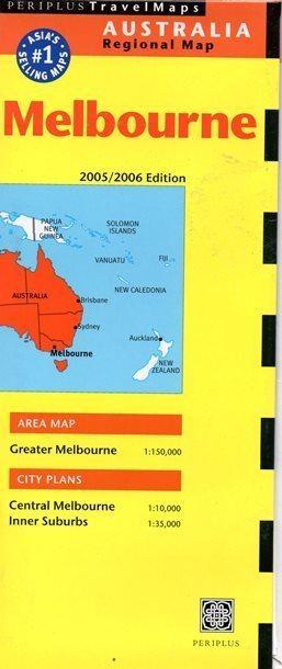 MELBOURNE mapa PERIPLUS