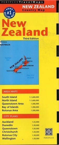 NOWA ZELANDIA NEW ZEALAND mapa PERIPLUS