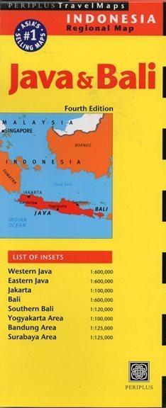 JAVA I BALI mapa PERIPLUS