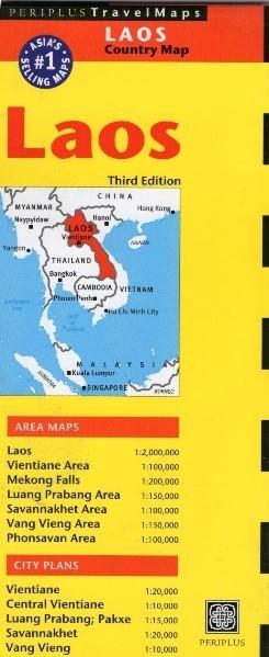 LAOS mapa PERIPLUS