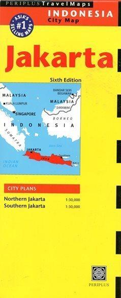 DŻAKARTA JAKARTA mapa PERIPLUS