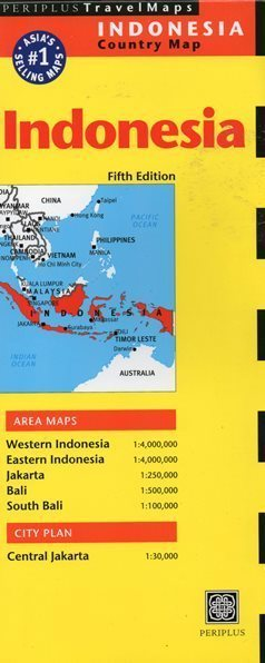 INDONEZJA INDONESIA mapa PERIPLUS