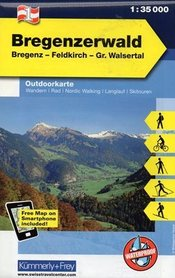 BREGENZERWALD laminowana mapa turystyczna 1:35 000  KUMMERLY FREY