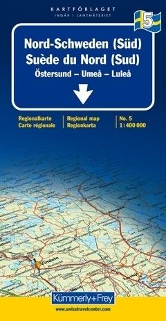 SZWECJA PÓŁNOCNA - OSTERSUND - UMEA - LULEA mapa samochodowa 1:400 000 Kummerly + Frey