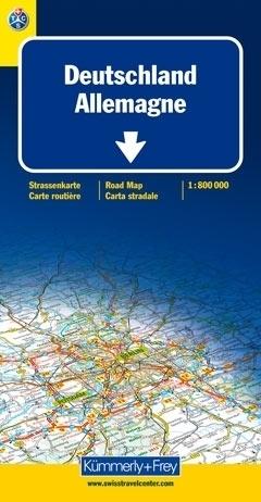 NIEMCY - ALLEMAGEN  mapa samochodowa 1:800 000 Kummerly + Frey