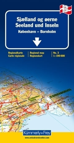 DANIA - KOPENHAGA - BORNHOLM mapa samochodowa 1:190 000 Kummerly + Frey