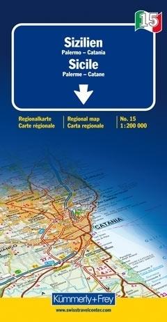 SYCYLIA PALERMO KATANIA mapa samochodowa 1:200 000 Kummerly + Frey