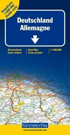 NIEMCY mapa samochodowa 1:500 000 Kummerly + Frey