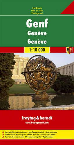 GENEWA plan miasta 1:10 000 FREYTAG&BERNDT