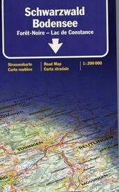 SCHWARZWALD JEZ. BODEŃSKIE mapa samochodowa 1:200 000 Kummerly + Frey