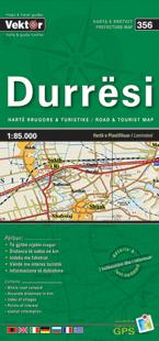 DURRESI laminowana mapa samochodowo turustyczna VEKTOR ALBANIA