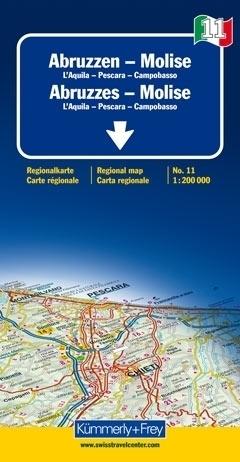 ABRUZJA - MOLISE mapa samochodowa 1:200 000 Kummerly + Frey