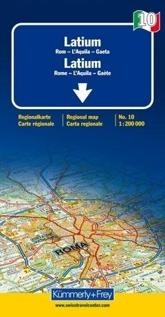 LACJUM - RZYM mapa samochodowa 1:200 000 Kummerly + Frey