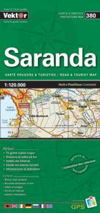 SARANDA laminowana mapa samochodowo turustyczna VEKTOR ALBANIA