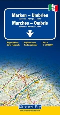 MARCHE - UMBRIA mapa samochodowa 1:200 000 Kummerly + Frey