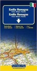 EMILIA ROMAGNA - PARMA - BOLONIA - RAVENNA mapa samochodowa 1:200 000 Kummerly + Frey