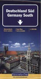 NIEMCY POŁUDNIOWE mapa samochodowa laminowana 1:500 000 Kummerly + Frey