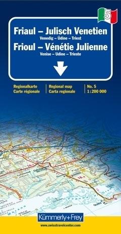 FRIULI - WENECJA JULIJSKA mapa samochodowa 1:200 000 Kummerly + Frey