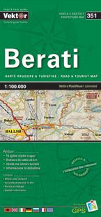 BERATI laminowana mapa samochodowo turustyczna VEKTOR ALBANIA