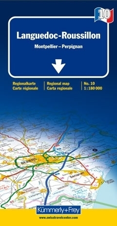 LANGWEDOCJA - ROUSSILLON mapa samochodowa 1:180 000 Kummerly + Frey