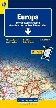 EUROPA mapa samochodowa 1:3 600 000 Kummerly + Frey