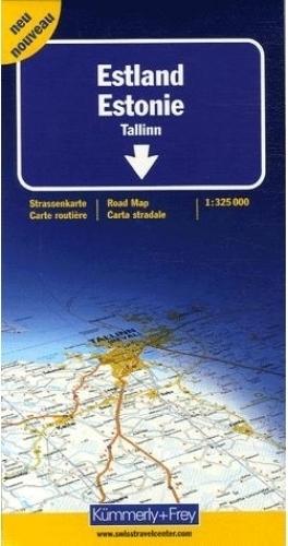 ESTONIA mapa samochodowa 1:325 000 Kummerly + Frey