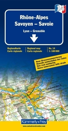 RODAN-ALPY - SABAUDIA (SAVOY) mapa samochodowa 1:180 000 Kummerly + Frey