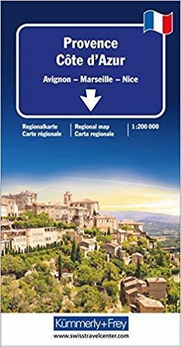 PROWANSJA - LAZUROWE WYBRZEŻE mapa samochodowa 1:200 000 Kummerly + Frey