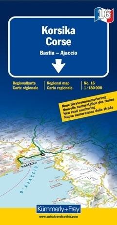 KORSYKA mapa samochodowa 1:180 000 Kummerly + Frey