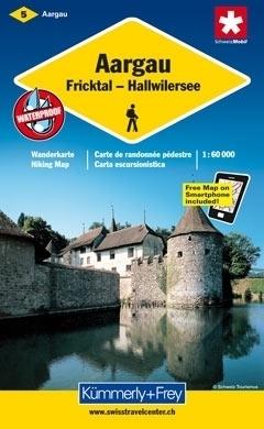 AARGAU FRICKTAL - JEZIORO HALLWILER wodoodporna mapa samochodowa 1:60 000 Kummerly + Frey