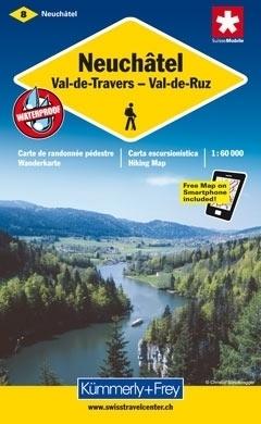 NEUCHATEL wodoodporna mapa samochodowa 1:60 000 Kummerly + Frey