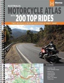 AUSTRALIA motocyklowy atlas i przewodnik + mapa ścienna HEMA