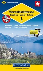 JEZIORO CZTERECH KANTONÓW VIERWALDSTATTERSEE wodoodporna mapa turystyczna 1:60 000 Kummerly + Frey