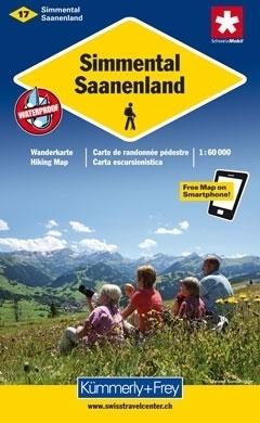 SIMMENTAL - SAANENLAND wodoodporna mapa samochodowa 1:60 000 Kummerly + Frey