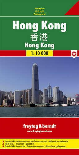 HONG KONG plan miasta 1:10 000 FREYTAG & BERNDT