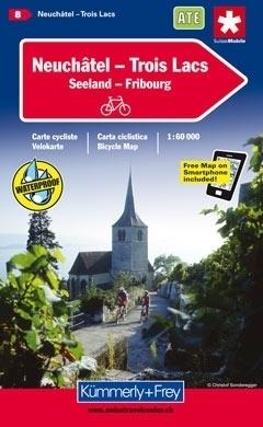 NEUCHATEL - TROIS LACS wodoodporna mapa rowerowa 1:60 000 Kummerly + Frey
