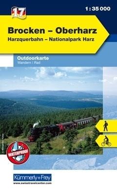 BROCKEN - OBERHARZ laminowana mapa turystyczna 1:35 000 KUMMERLY FREY