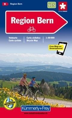 BERNO I OKOLICE wodoodporna mapa rowerowa 1:60 000 Kummerly + Frey