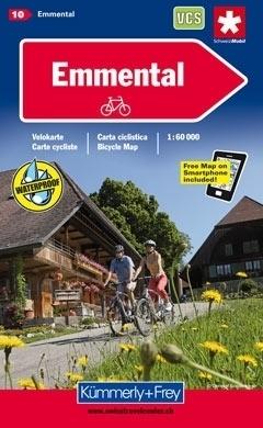 EMMENTAL wodoodporna mapa rowerowa 1:60 000 Kummerly + Frey