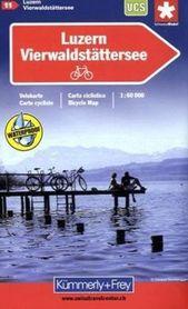 LUCERNA - JEZIORO CZTERECH KANTONÓW wodoodporna mapa rowerowa 1:60 000 Kummerly + Frey