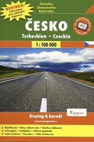 CZECHY atlas samochodowy 1:100 000 FREYTAG & BERNDT 2014
