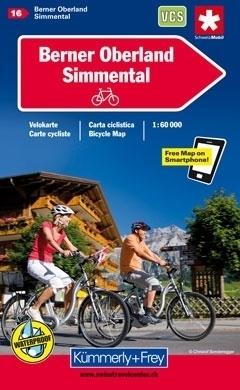 OBERLAND BERNENSKI - SIMMENTAL wodoodporna mapa rowerowa 1:60 000 Kummerly-Frey