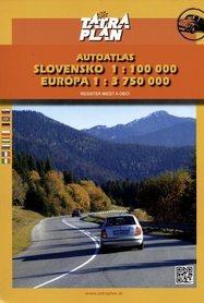 SŁOWACJA - EUROPA ATLAS SAMOCHODOWY 1:100 000/1:3 750 000 TATRAPLAN