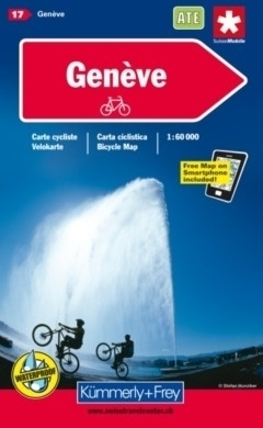 GENEWA wodoodporna mapa rowerowa 1:60 000 Kummerly-Frey