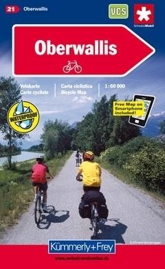 OBERWALLIS wodoodporna mapa rowerowa 1:60 000 Kummerly-Frey