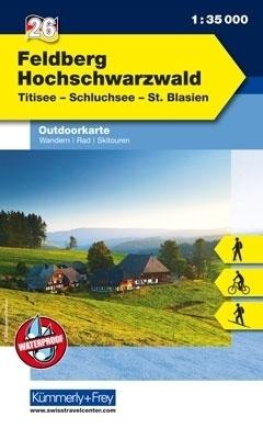 FELDBERG - HOCHSCHWARZWALD laminowana mapa turystyczna 1:35 000 KUMMERLY FREY