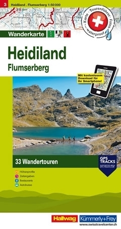 HEIDILAND - FLUMSERBERG wodoodporna mapa turystyczna 1:50 000 Kummerly + Frey