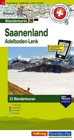 SAANEN - ADELBODEN LENK wodoodporna mapa turystyczna 1:50 000 Kummerly + Frey