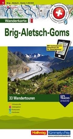 BRIG - ALETSCH - GOMS wodoodporna mapa turystyczna 1:50 000 Kummerly + Frey