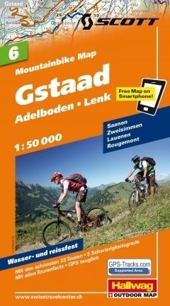 GSTAAD - ADELBODEN - LENK wodoodporna mapa rowerowa 1:50 000 Hallwag